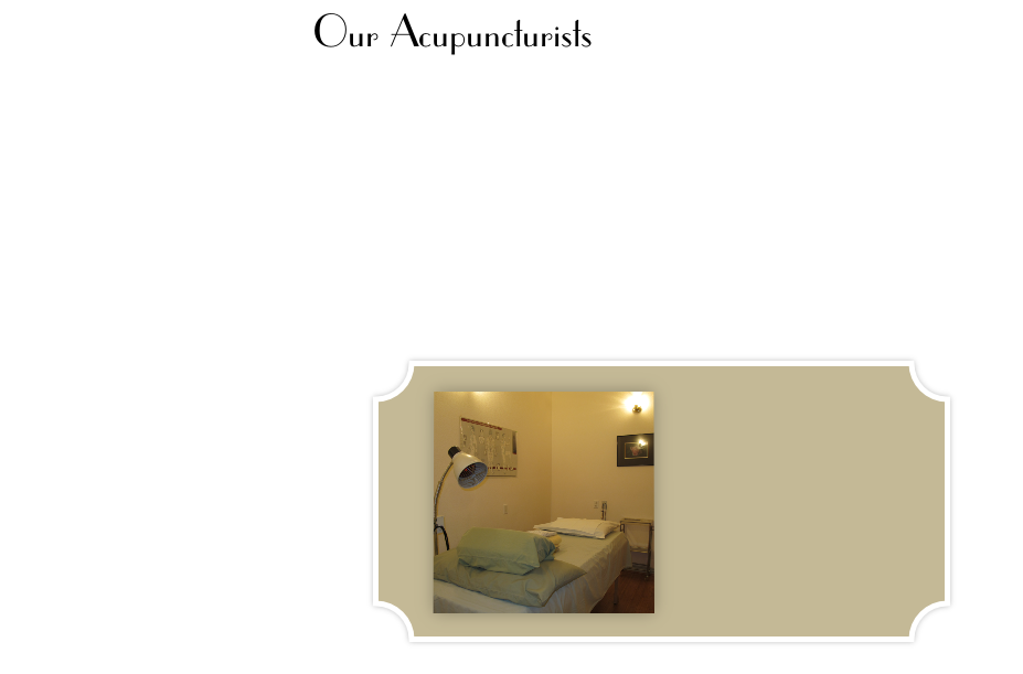 Our Acupuncturists
